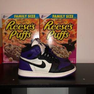 Air jordan 1 Court purple Gs size 7y
